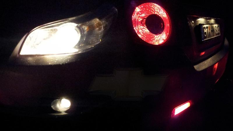 Die Nebelscheinwerfer vom Epica bei Nacht