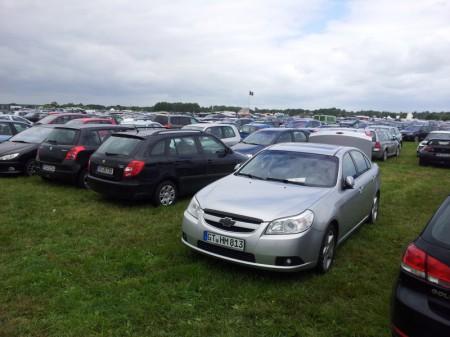 Auf dem Festival-Parkplatz